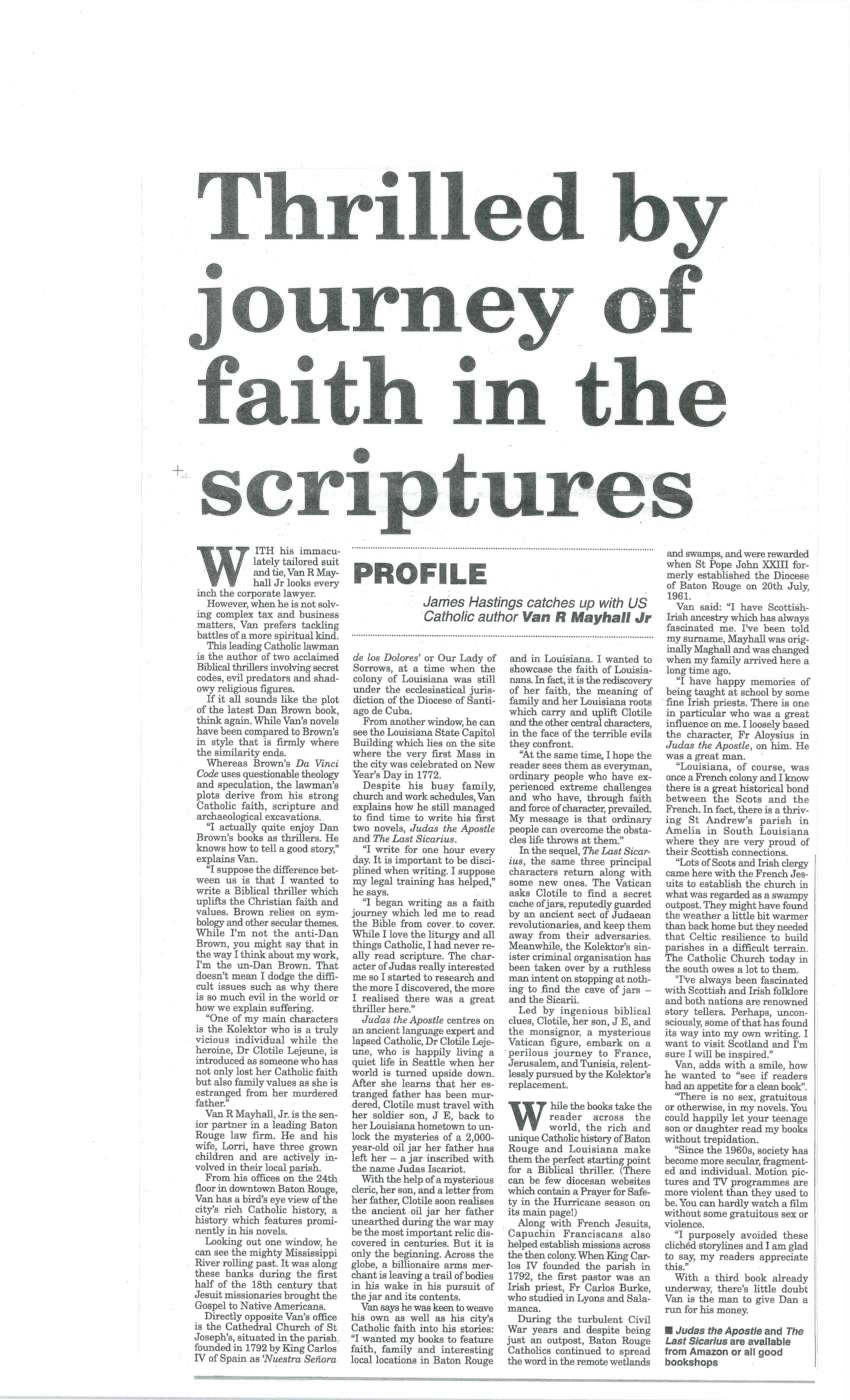 journey of faith in scriptures Van Mayhall